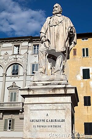 Giuseppe Garibaldi Monument in Lucca