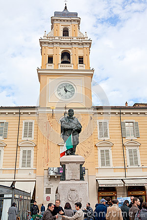 Giuseppe Garibaldi Monument in Parma, Italy Editorial Image