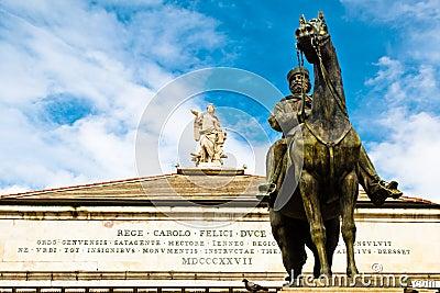 Giuseppe Garibaldi Statue in Genoa