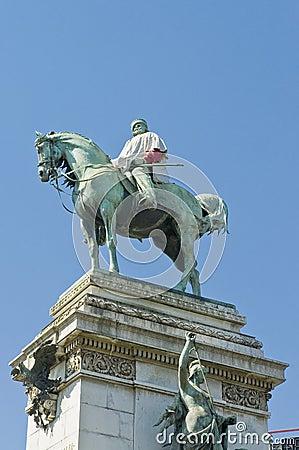 Giuseppe Garibaldi statue at Milan, Italy