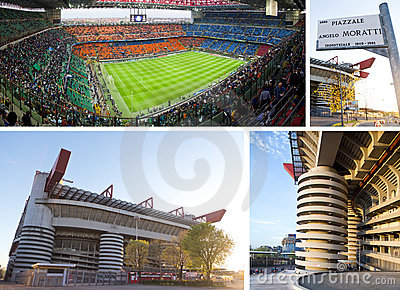 Giuseppe Meazza soccer stadium in Milan, Italy Editorial Photo