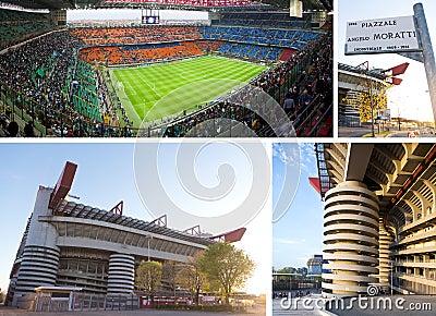 Giuseppe Meazza soccer stadium in Milan, Italy Editorial Photo