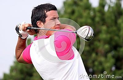 Giusti (ITA) at the Golf Open de Paris 2009 Editorial Photography
