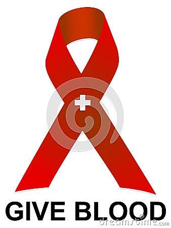 Give Blood Ribbon