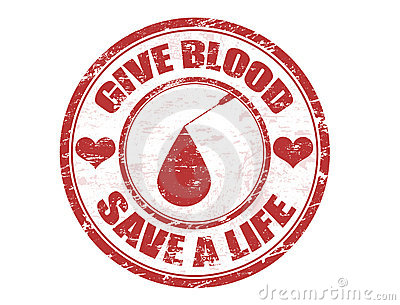 Give blood stamp