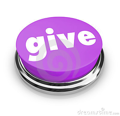 Free Give - Charity Button Royalty Free Stock Photography - 9600837