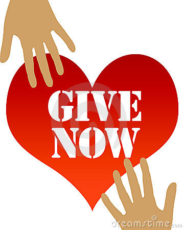 Give from the heart