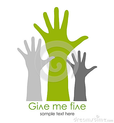 Free Give Me Five Symbol Stock Images - 27368344