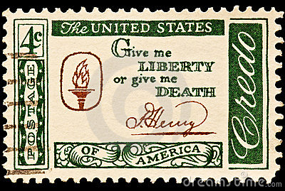 Give me Liberty or give me Death Postal Slogan