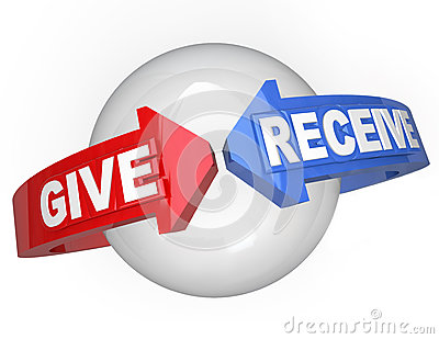 Give and Receive Sharing Support Helping Others