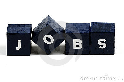 Give us jobs Stock Photo