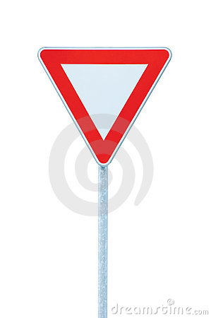 Give way priority yield road traffic roadsign sign