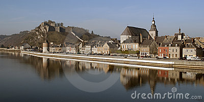 Givet: small French town at the water