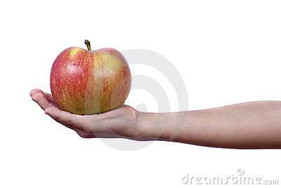 Giving an apple