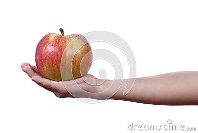 Giving an apple
