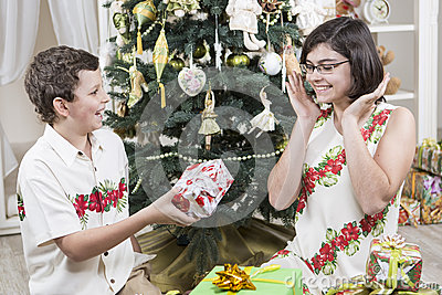 Giving Christmas gifts