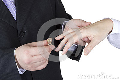 Giving the engagement ring