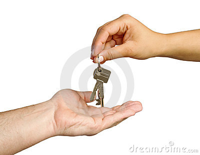 Giving keys to new home
