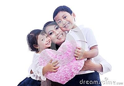 Giving mommy hug