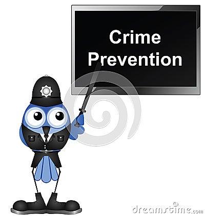 Giving talk on crime prevention