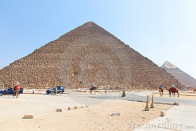 Giza pyramids, Egypt Editorial Photo