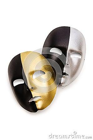 Glänzende Masken