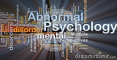 Glödande psykologi för onormalt bakgrundsbegrepp