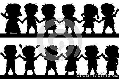 Glückliche Kind-Schattenbilder