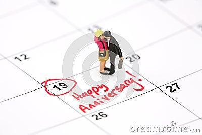 Glückliches Jahrestags-Konzept
