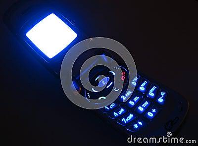Glühender Handy