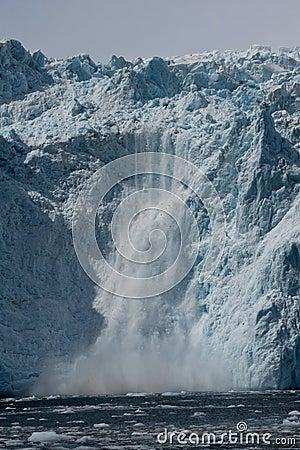 Glacial ice calving