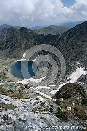 The glacial lake in the Rila