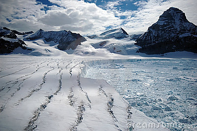 Glaciar antártico de fusión