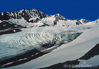 Glacier in the Alaskan Wilds