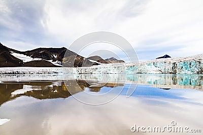 Glacier in arctic region