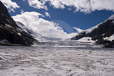 Glacier and blue sky