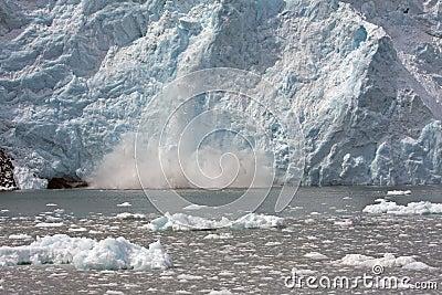 Glacier Exploding