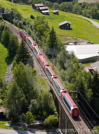 Glacier express panorama train