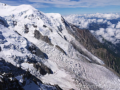 Glacier on Mont Blanc
