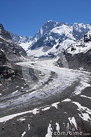 Glacier in Mont-blanc massive