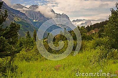 Glacier National Park Landscape, Montana