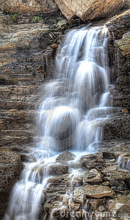 Glacier Park Waterfall