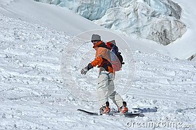 Glacier Snowboarding
