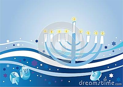 Glad background to the Jewish holiday Hanukkah