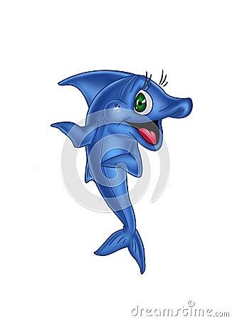 Glad blue fish