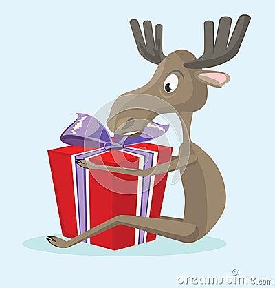 Glad elk