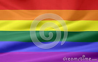 Glad stolthet för flagga