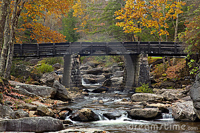 Glade Creek Bridge in Autumn