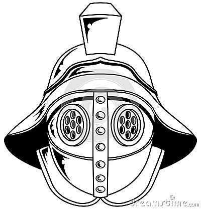 Gladiator helmet illustration