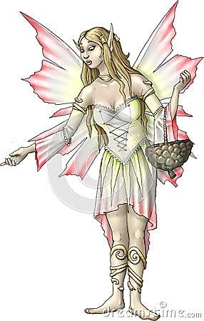 Gladioli flower fairy